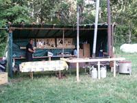 Ett fullt utrustat lägerkök