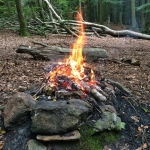 Elden är tänd