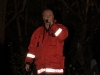 Bosse som var ledare för övningen agerar SOS alarm