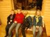 Linus, Jonas, Lucas och Caroline är klara med tipspromenaden