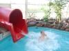Emelie i vattenrutchbanan