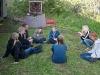 Patrullscouterna diskuterar sjukvård med Stefan