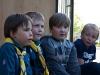 Scouter som har blivit pantade i bollen i burken