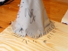 Tepee med pagodeld framför