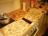 Pizzorna är gräddade och klara