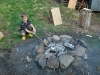 Benjamin är först vid elden