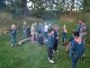 Scouterna grillar marshmallows. Många marshmallows blir det